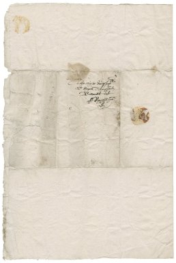 Letter from Edward Symonds to Roger Townshend, 1st bart.