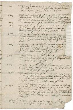 Letter from Edward Symonds [i.e. Simens] to John Stringer