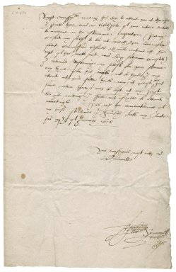 Letter from Edward Symonds to Roger Townshend, 1st bart.