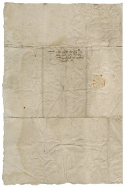 Letter from Edward Symonds to Lady [Mary (de Vere)?] Townshend