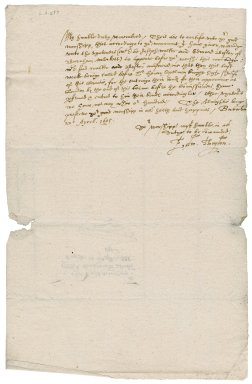 Letter from Edward Thurlow to Nathaniel Bacon