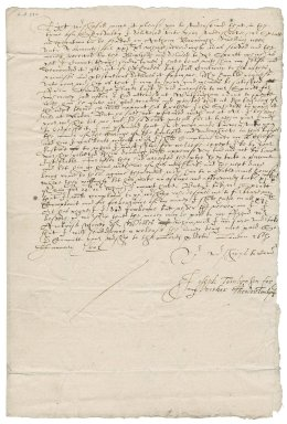 Letter from Theodore Tomlinson to Nathaniel Bacon