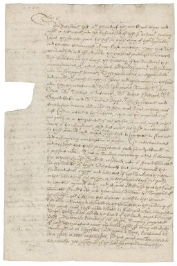 Letter from Sir Roger Townshend, 1st bart., to Sir John Spelman