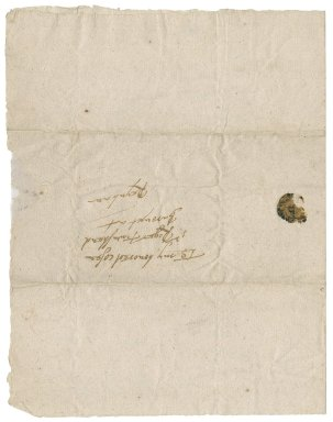 Letter from John Tracy to Roger Townshend, 1st bart.