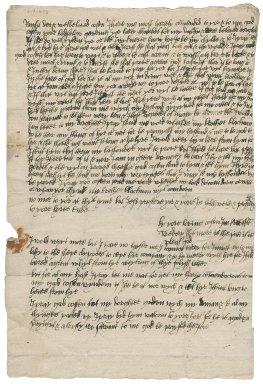 Letter from Jane (Blackman) Tuttoft to Nathaniel Bacon