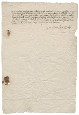 Letter from John Tuttoft to Nathaniel Bacon