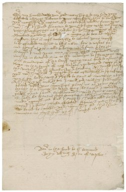 Letter from John Utting to Nathaniel Bacon