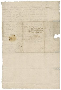 Letter from Sir William Waldegrave to Nathaniel Bacon