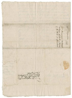 Letter from Sir Francis Walsingham to Sir Nicholas Bacon, lord keeper