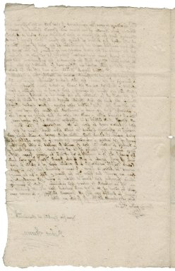 Letter from Robert Warren to Nathaniel Bacon