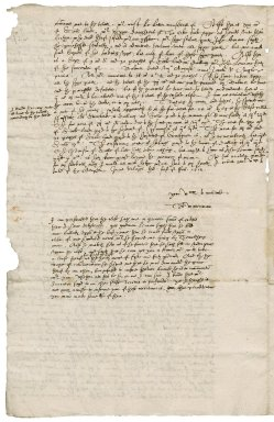 Letter from Thomas Waterman to Nathaniel Bacon