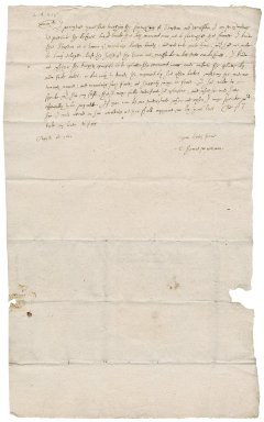 Letter from Thomas Waterman to Martin Man