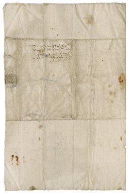 Letter from J.[?] Wentworth to Roger Townshend (1543?-1590)