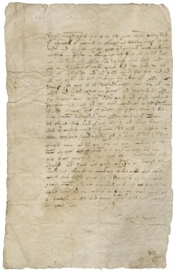Letter from Richard Wether to [Sir Nicholas Bacon, lord keeper?]