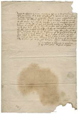 Letter from Thomas Whitby to Roger Townshend (1543?-1590)