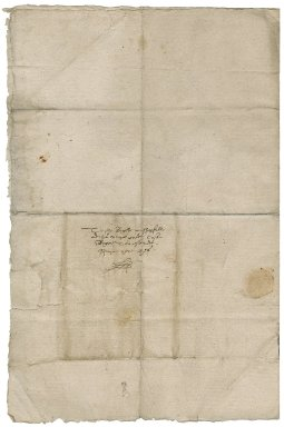 Letter from Robert Whitney to Roger Townshend (1543?-1590)