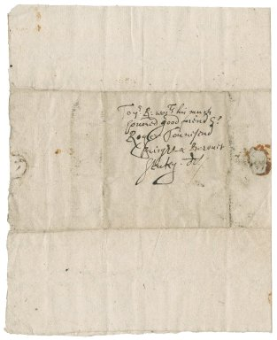 Letter from William Wing to Roger Townshend, 1st bart.