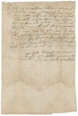 Letter from William Wollaston, ironmonger, to John Baker