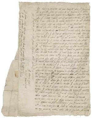 Letter from Henry Woodhouse to unknown recipient