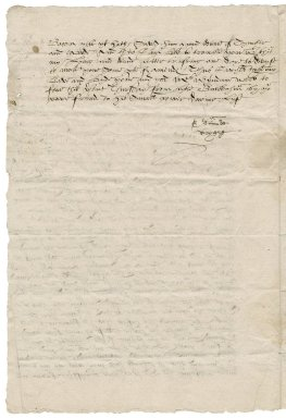 Letter from Edmund Wright to Sir Francis Wyndham