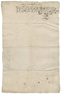 Receipt from Robert Bolton to Sir Edmund Bacon