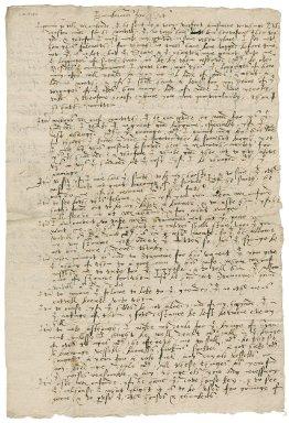 Memoranda of Nathaniel Bacon concerning properties : draft