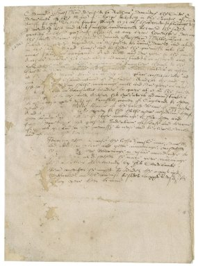 Memoranda from Nathaniel Bacon on the manor of Thorpe Market