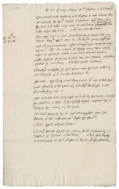 Case between Mrs. Bosom and G[eorge] Gardiner, Dean of Norwich? overseen by Nathaniel Bacon