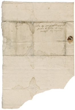 Letter from Edward Stanhawe to Nathaniel Bacon
