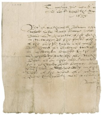 Rent receipt from Dean and Chapter of Norwich to Nathaniel Bacon