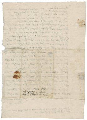 Letter from James Taverner to Nathaniel Bacon