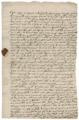 Letter from Robert Blackman to Nathaniel Bacon