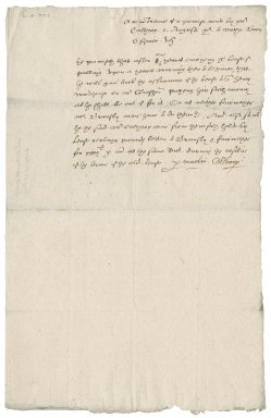 Agreement between Martin Calthorpe and Nathaniel Bacon
