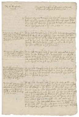 Examinations and proofs in a case between Nicholas Thompson and Emmanuell Calliard