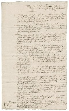 Examination before Nathaniel Bacon of Mary Marcham