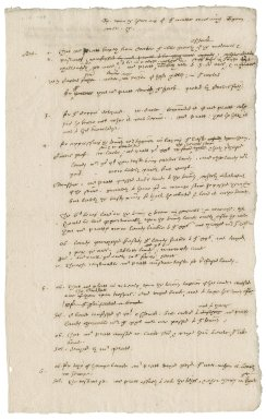 Notes concerning a dispute between William Pratt and Francis Carter and other tenants about contributions to the Task and rights of shack