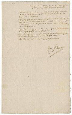 Examination before Nathaniel Bacon of Elizabeth Butler
