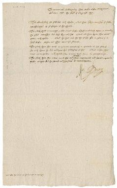 Examination before Nathaniel Bacon of Elizabeth Hall