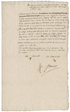 Agreement between Elizabeth Earle nd John Earle