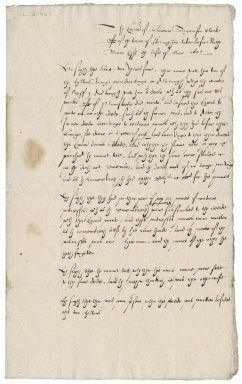 Examination before Nathaniel Bacon of Laurence Seagrinson