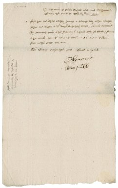 Information from Oliver Russell to Nathaniel Bacon
