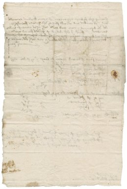 Grocer's bill from William Brown to Nathaniel Bacon