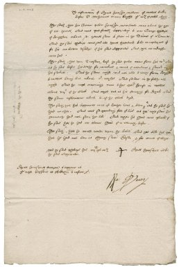 Information from Agnes Howsige of the death of an apprentice, her son, to Nathaniel Bacon