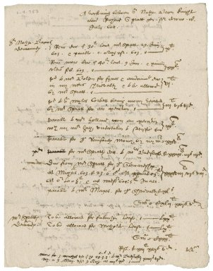 Note of Nathaniel Bacon of Richard Spratt's debts