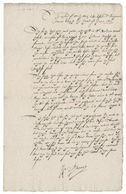 Examination before Nathaniel Bacon of of Cecily Motts