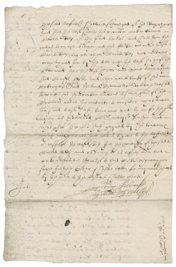 Order from Nathaniel Bacon in the Thomas Blofield-Sir John Wyndham case