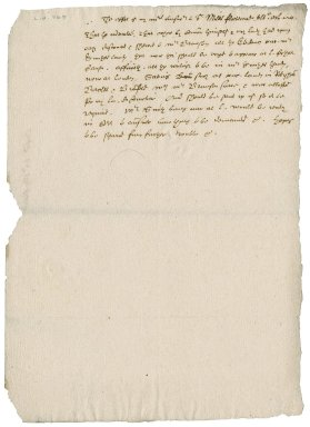 Letter from Nathaniel Bacon to Sir Miles Fleetwood : draft