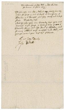 Information of John Roke and John Kendall to Nathaniel Bacon