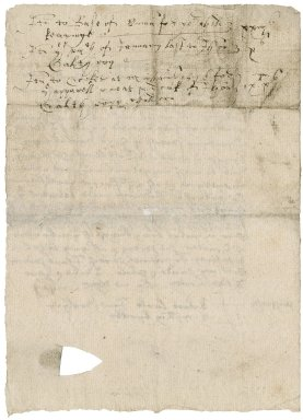 Acquittance from John Calthorpe to Sir Nicholas Bacon, lord keeper