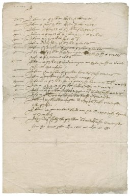 Inventory of silverware purchased by Sir Nicholas Bacon, lord keeper, from Mr. Morgan